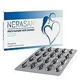 Nerasan – integratori sessuali per uomo - afrodisiaco per uomo per prestazioni sessuali naturali – per resistenza, potenza sessuale e erezioni più potenti – 20 pillole erezione
