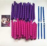 Marbeine 40 Stück Manuelle Lockenwickler aus Kunststoff mit Friseurwerkzeug für Damen, 55 cm