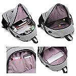 Super Modern Unisex Nylon School Backpack with USB Charger Port Laptop Bag for Teen Girls and Boys Cool Sports Backpack 2 bags Set 1 Big Backpack and 1 Shoulder Bag - childrens-backpacks