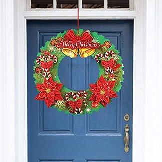 mysticall-Weihnachten-Wand-Tr-hngen-Kranz-Glasfenster-Girlande-Aufkleber-Dekoration-fr-Weihnachten-Erntedankfest-Neujahr-kein-Klebstoff-35cm