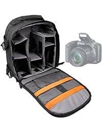 DURAGADGET Mochila Resistente Con Compartimentos Para Cámara Nikon D3300 Resistente Al Agua + Funda Impermeable ¡Perfecta Para Fotografiar Bajo La Lluvia!