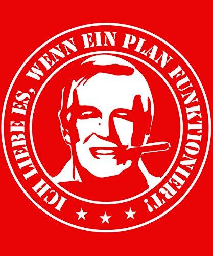 -- Wenn ein Plan funktioniert -- Girls Shirt Rot