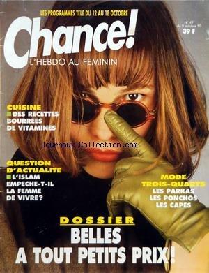CHANCE [No 49] du 09/10/1990 - DES RECET...