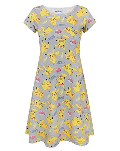 Pokemon Pikachu Women's Short Sleeved Dress (Pikachu Kleid)