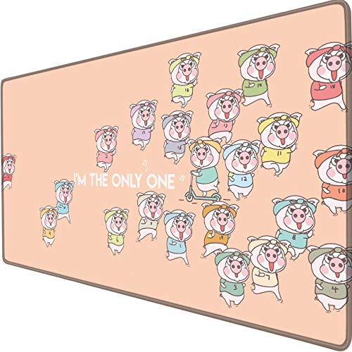 xxl gaming mauspad Cochon course à pied sport skateboard Anime Cartoon niedlich Spielmausunterlage Schreibtischmatte übergroß Anime weich wasserdicht Präzision
