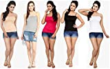 #5: SARA Women's Cotton Camisoles and Vest Tank Top T-Shirt spaghetti (combo of 5)