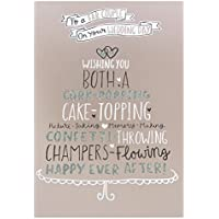 Hallmark Wedding Card for Both of You 'Happily Ever After' - Medium