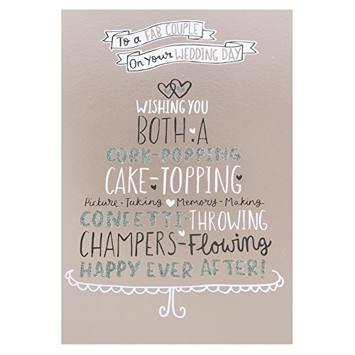 Hallmark Wedding Card for Both of You 'Happily Ever After' - Medium Test