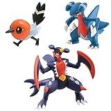 Pokemon XY Figure 3er Packung - Mega Garchomp, Fletchling & Gabite