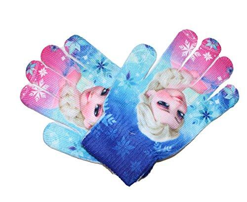 Disney Frozen Die Eiskönigin Kinder ONE SIZE Handschuhe (Blau/Pink, One Size)