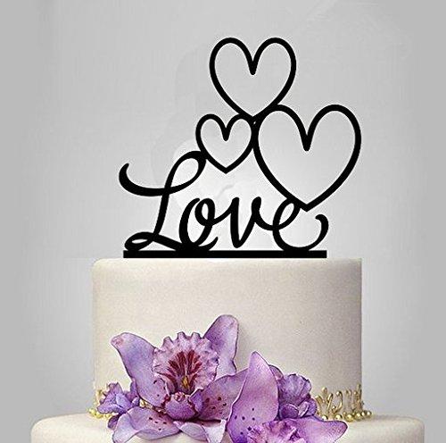 ShinyBeauty Personalisierte Custom Herr Frau Hochzeitstorte Topper mit Ihrem Nachnamen und Datum (Style 2) (Liebe Auf Ersten Datum)