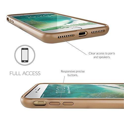 Coque iPhone 7 Plus , Snugg Apple iPhone 7 Plus [Pulse Series] Double Couche Case Housse Silicone [Bouclier Légère] Etui de Protection - Riverside Blue Champagne Gold