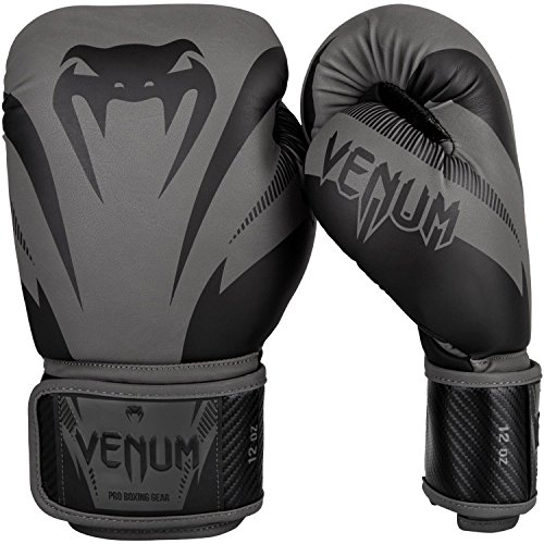 Venum Men's Impact Boxing Gloves, Black/Black, 14oz