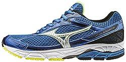 Mizuno Men Wave Equate Running Shoes, Blue (Strong Bluesilversafety Yellow), 11 Uk 46 Eu