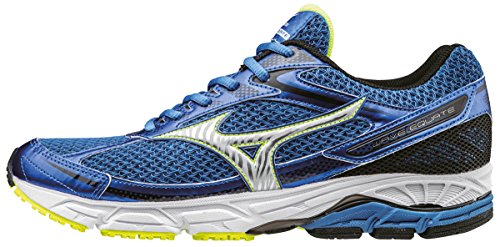 Mizuno Wave Equate, Scarpe Running Uomo, Blu (Strong Blue/Silver/Safety Yellow), 45 EU