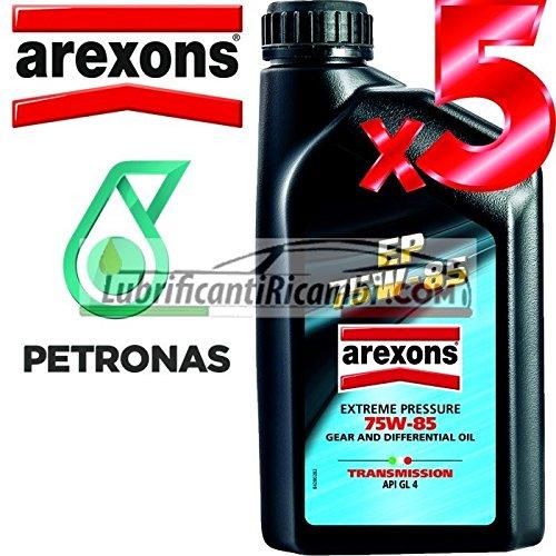 Arexons Petronas EP API GL4 75w85 Olio Lubrificante Cambi, Differenziali e Trasmissioni Meccaniche 100% Sintetico 5 LT