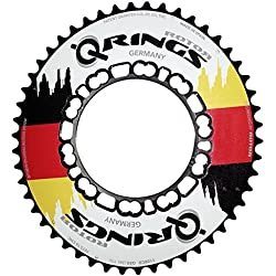 rotor Q de Ring, agujero circular 110mm, Aero 50Z, Exterior, Flag Edition de ovales Cadena Hojas, Negro, 50