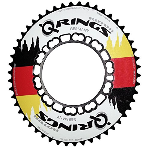 rotor Q-Ring, Lochkreis 110 mm, Aero 50Z, außen, Flag Edition DE Ovales Kettenblatt, Schwarz, 50