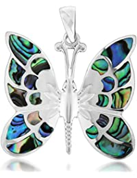 Tuscany Silver Anhänger Sterling Silber Muschel Schmetterling