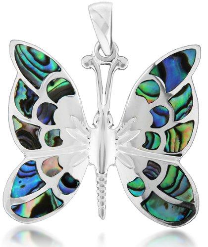 Tuscany Silver Anhänger Sterling Silber Muschel Schmetterling