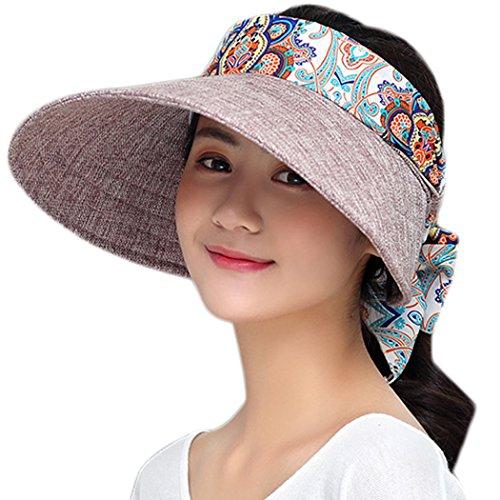 Fascigirl Strand Visier Hut Visoren Hut für Damen Atmungsaktiv Faltbar Sommer Sonnenblende Hut