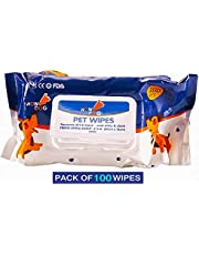 Wowdog Dog Wipes for Dogs Cats Puppies & Pets -Fresh Apple