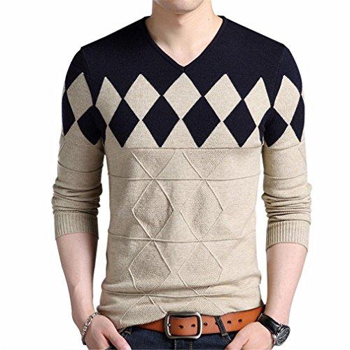 Linyin Maglione di lana cachemire uomo autunno inverno ...