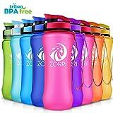 ZORRI Sport Trinkflasche auslaufsicher, BPA Frei & Umweltfreundlich Wasserflasche Für Kinder & Frauen, One Handed Open & Tritan, Für Gym/Outdoor/Camping - Rosa - 600ml