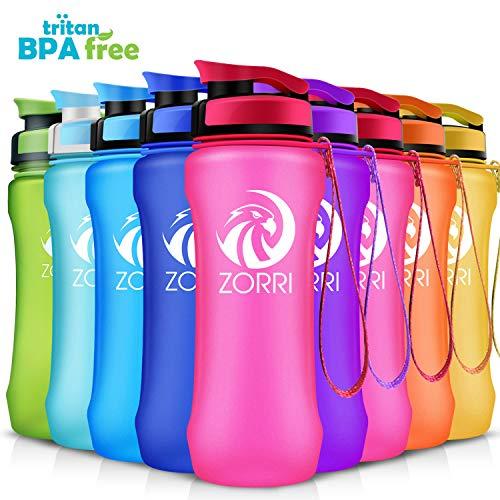Zorri sportiva bottiglia d'acqua 600ml/800ml/1l borraccia a prova di perdite