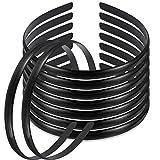 30 Paket Schwarz Kunststoff Haar Stirnband 10mm Klare Keine Zähne