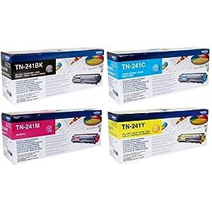 Brother Genuine TN-241 Toner Cartridges (TN-241BK/C/M/Y)