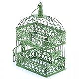 Hängedeko Vogelkäfig eckig Antik grün 34,5cm Nostalgie Dekokäfig Balkon Blumen