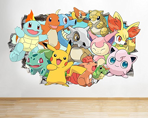 Price comparison product image Pokemon Go X Y Game Characters Wall Decal Poster art Stickers Vinyl Room (Medium (52x30cm))