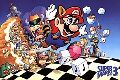 Super Mario Bros. 3 Poster Drucken (91,44 x 60,96 cm)