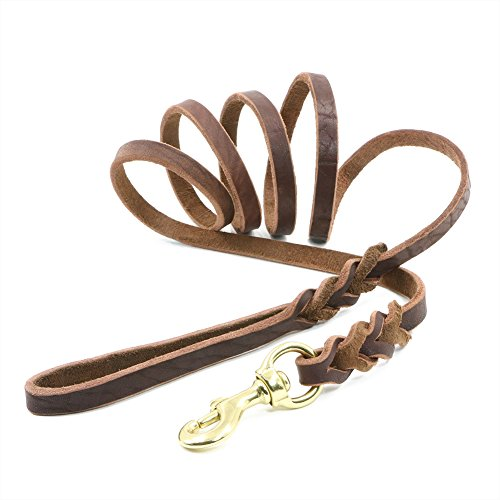 leather-dog-lead-petbaba-18m-6ft-long-braid-heavy-duty-durable-training-lead-for-dogs-brown