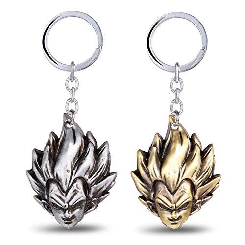 (Loheag Clinor 2 Pack Dragonball Schlüsselanhänger Mit Super Saiyajin Son Goku Anhänger)
