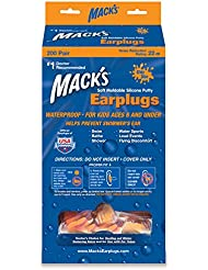 Macks Swimmers Moldable Ear Plugs for Kids for Swim Fitness and Water Aerobics