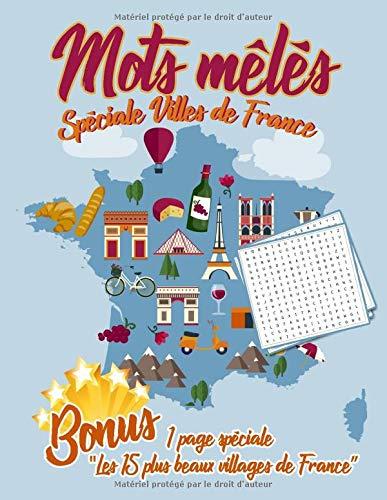 Mots mêlés Spéciale Villes de France 1 page spéciale