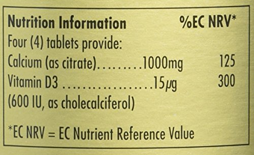 Solgar Calcium Citrate with Vitamin D Tablets – 240 Tablets