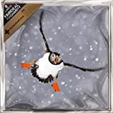 """Christmas Cards - Charity Pack of 8 """"Puffin In The Snow"""" 6.25"""" x 6.25"""" ALCX9133"""