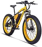 Elettrico Mountain Bike 26 Pollici 500W 48V 17AH con Rimovibile Grande capacità della Batteria al Litio Disc E-Bikes Bicicletta Elettrica 21 Speed   Gear E Tre modalità di Funzionamento,d'oro