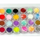 waygo 24colores 3d uñas arte Glitter polvo acrílico decoración