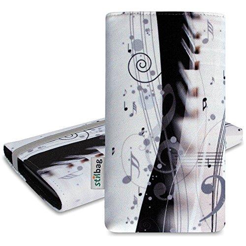 Stilbag Tasche 'MIKA' für Apple iPhone 5s - Design: Schwarze Katze Piano Music