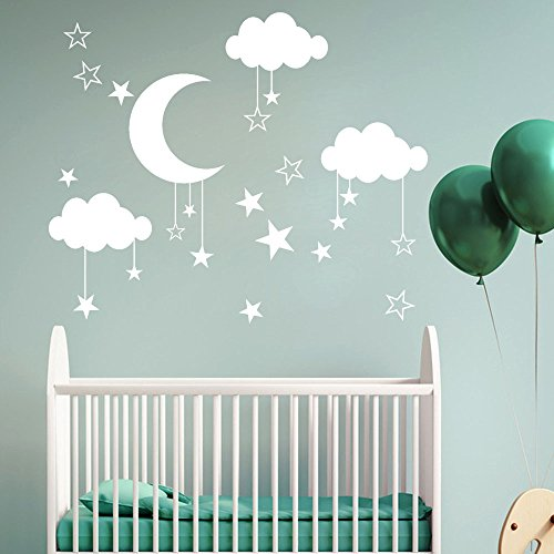 Homebaby Stickers Muraux-Lune Stickers Muraux Amovible...