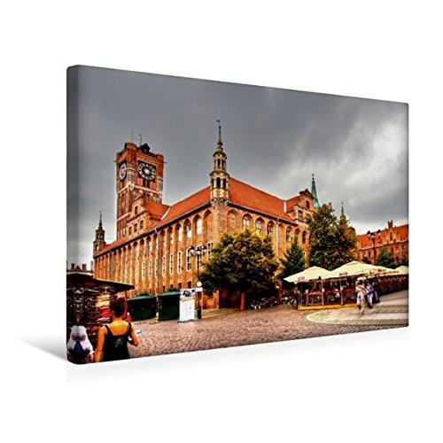 Calvendo Premium Textil-Leinwand 45 cm x 30 cm Quer, Das altstädtische Rathaus, entstand Ende des...
