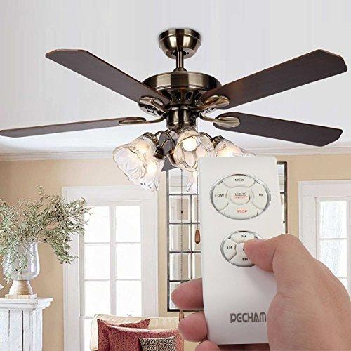 comprare on line PECHAM F2 Telecomando per ventilatori a soffitto, Ventilatore a pala da soffitto, regolabile con telecomando, in plastica [Classe di efficienza energetica A++] - Perfetto Garanzia e servizio clienti rapido prezzo