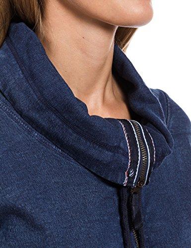 Timezone 18-0229 - Sweat-shirt - Femme Bleu - Blau (mid blue indigo 3844)