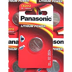 Panasonic Lithium Battery CR2012 Battery Pack of 5 Batteries