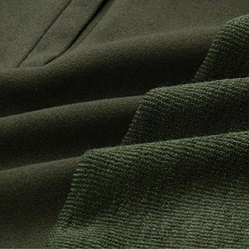 Cardigan Femme,LMMVP Hiver Femmes Dames Cardigan à Manches longues Manteau Open Front Veste armée verte