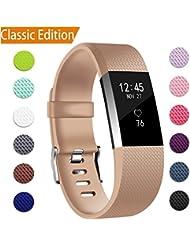 Fitbit Charge 2 Armbänder 12 Farbes, BeneStellar Verstellbares Ersatz Silikon Uhrenarmband, Klassisch Armband für Fitbit Charge 2